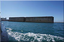 SY6874 : Mulberry Harbour units, Portland Harbour by Noisar