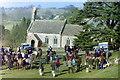 ST8294 : Beaufort Hunt Meet, Lasborough, Gloucestershire 1998 by Ray Bird