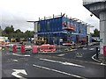 SP2965 : Something is going up on part of Tesco's car park, Warwick by Robin Stott