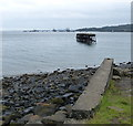 NT1380 : Derelict jetty in Inverkeithing Bay by Mat Fascione