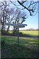 TR1847 : Roadsign near Bladbean Farm by Ian S