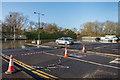 TQ1556 : Flooded car park by Ian Capper