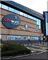 ST3486 : Cineworld Cinemas and Starbucks Coffee name signs, Newport by Jaggery