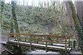SN2952 : Footbridge on Wales Coast Path by M J Roscoe