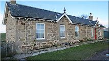 NJ1262 : Cottages at Wester Alves by Anne Burgess