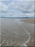 SH5631 : The tide coming in at Harlech Beach by Eirian Evans