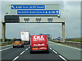 SE3771 : Sign Gantry over the A1(M) approaching Dishforth Interchange by David Dixon