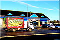 ST3090 : Colourful lorry, Malpas Road, Newport by Jaggery