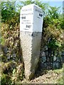 SW6428 : Old Guide Stone by the crossroads, west of Sithney Common by Rosy Hanns