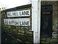SE1323 : Disused Victorian letter box at the top of Mill Hill Lane, Brighouse by Humphrey Bolton