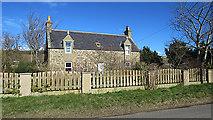 NJ1466 : Eastbank Farm House by Anne Burgess