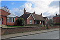 TL8683 : Thetford: almshouses on Station Road by John Sutton