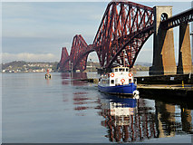 NT1378 : Hawes Pier and the Forth Bridge by David Dixon