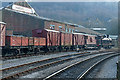 SE0641 : Demonstration freight train at Keighley by Chris Allen