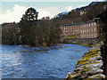 NS8842 : River Clyde at New Lanark by David Dixon