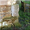 SK7824 : Bench mark, Church of St Mary, Chadwell by Alan Murray-Rust