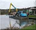 NS7276 : Dredging at Auchinstarry Marina by Richard Sutcliffe