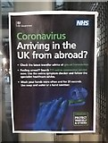 TL5523 : NHS Coronavirus notice at Stansted Airport by Thomas Nugent