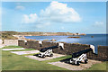 SV8909 : Cannons at Woolpack Battery by Des Blenkinsopp
