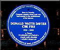 SS9596 : Donald Watts Davies blue plaque, Treorchy by Jaggery