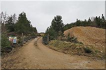NJ4647 : Quarry Entrance by Anne Burgess