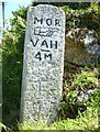 SW4538 : Old Milestone by the B3306, south west of Trewey by Rosy Hanns