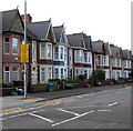 ST3188 : Yellow sign on a Corporation Road lamppost, Newport by Jaggery