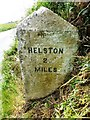 SW6730 : Old Milestone by the B3297, south west of Tregarthen by Rosy Hanns