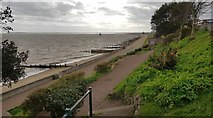 TM2531 : Dovercourt: Seafront promenade (1) by Nigel Cox