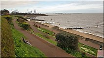 TM2531 : Dovercourt: Seafront promenade (2) by Nigel Cox