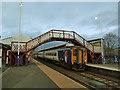 NY9464 : Hexham station: evening service by Stephen Craven