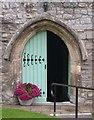ST3363 : St Paul's Church Door in Kewstoke, North Somerset by John P Reeves