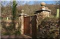 SX7783 : Gates near Willowrey Farm by Derek Harper
