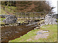 SD8780 : Footbridge over Green Field Beck at Beckermonds by David Dixon