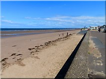 NS3321 : The beach and Esplanade at Ayr by Steve Daniels