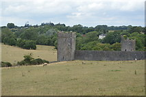 S4943 : Kells Priory - tower and wall by N Chadwick