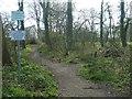 SE3423 : Permissive footpath, Normanton Golf Club by Christine Johnstone