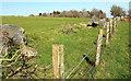 SX7064 : Double field boundary, Skerraton Down by Derek Harper