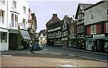 SJ6552 : High Street, Nantwich, 1963 by Alan Murray-Rust