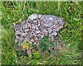 HY2509 : Camouflaged concrete, Brinkies Brae, Stromness, Orkney by Claire Pegrum