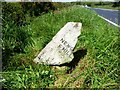 SW8963 : Old Milestone by the A3059, east of St Columb Major by Rosy Hanns