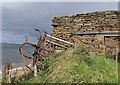 HY2606 : Remains of farm building and machinery, Sandside, Graemsay, Orkney by Claire Pegrum