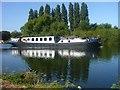 TQ0567 : Magna Carta Hotel Barge by Sean Davis