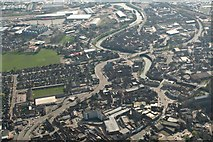 TF3243 : River Witham towards Boston Dock and John Adams Way: aerial 2020 (1) by Chris