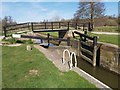 SU9947 : St Catherine's Lock on the River Wey in Surrey by John P Reeves