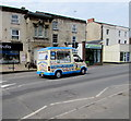 SO8005 : Ice cream van in High Street, Stonehouse by Jaggery
