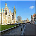 TL4458 : Empty Cambridge: King's College and King's Parade by John Sutton