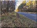 NH9249 : Milestone on the A939 at Achnatone by valenta