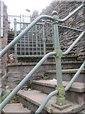 SH6266 : Stairs going up from the High Street, Bethesda by Meirion