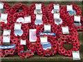 SJ9295 : Memorial wreaths at Denton by Gerald England